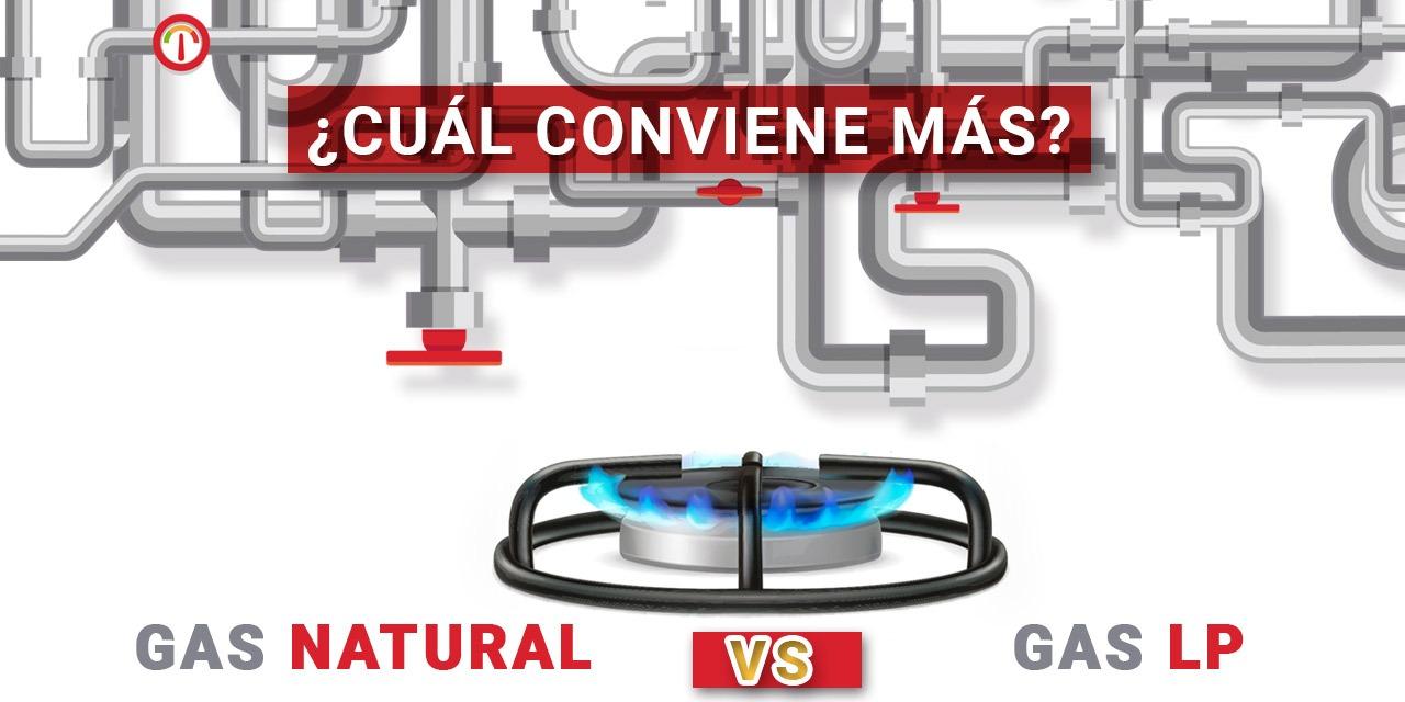 Gas natural vs Gas LP